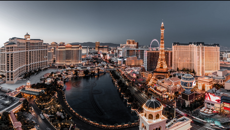 Las Vegas Strip in the evening